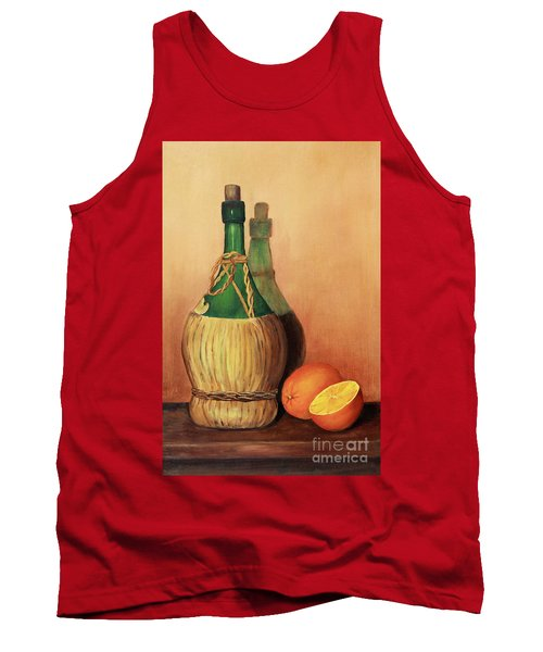 Wine And Oranges Tank Top by Pattie Calfy