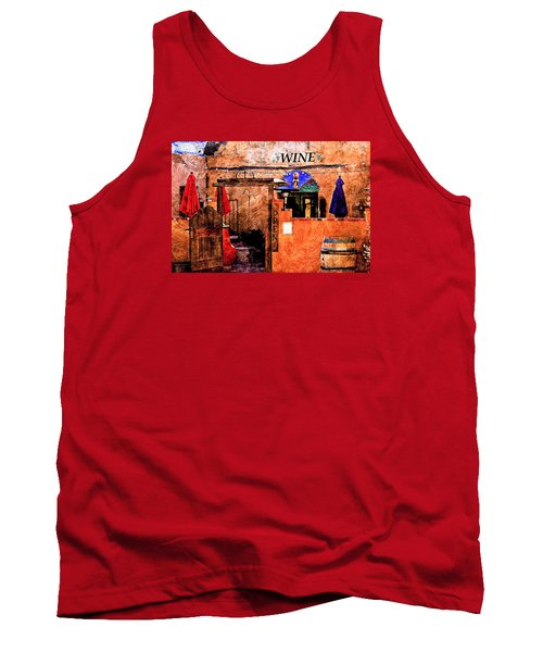 Tank Top featuring the photograph Wine Bar Of The Southwest by Barbara Chichester