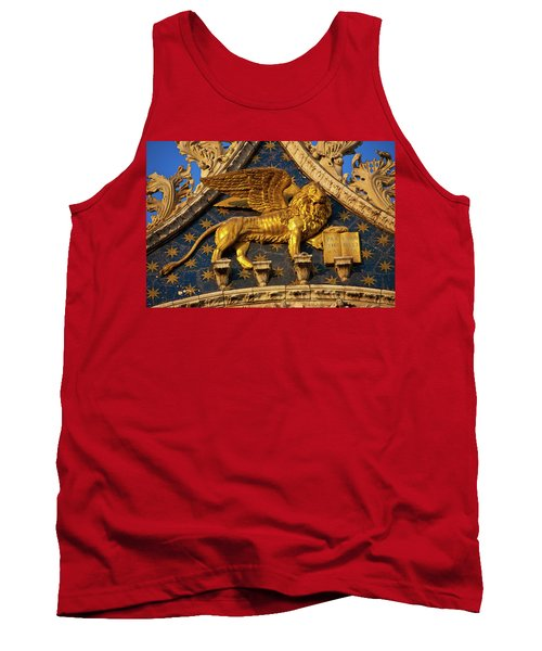 Tank Top featuring the photograph Winged Lion by Harry Spitz