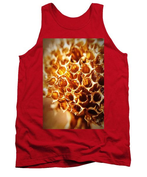 Winter Bee Balm Macro Tank Top by Bruce Carpenter