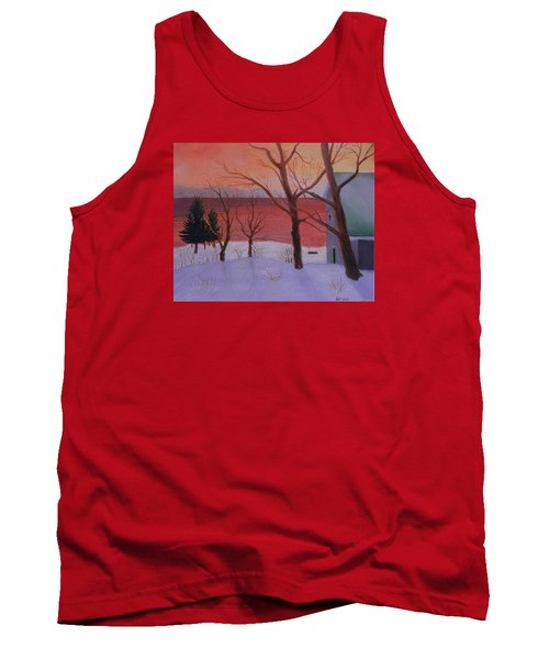 Winter Ocean Sunrise Tank Top