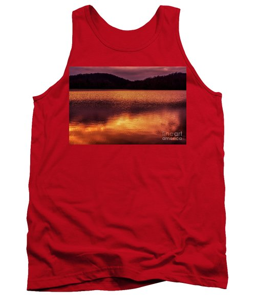 Winter Sunset Afterglow Reflection Tank Top