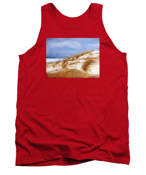 Tank Top featuring the photograph Wintertime St. Joe Lighthouse  by Kathi Mirto