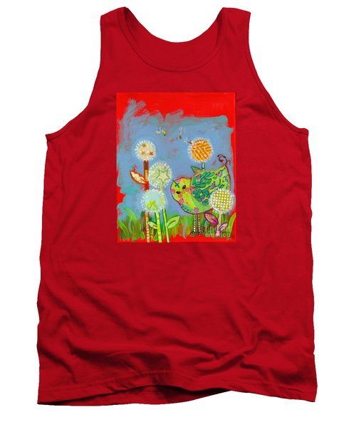 Wishful Thinking Birdy Tank Top by Shelley Overton