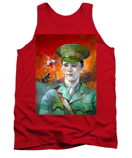 Tank Top featuring the painting W.j. Symons Vc by Ray Agius