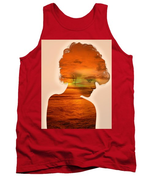 Woman And A Sunset Tank Top