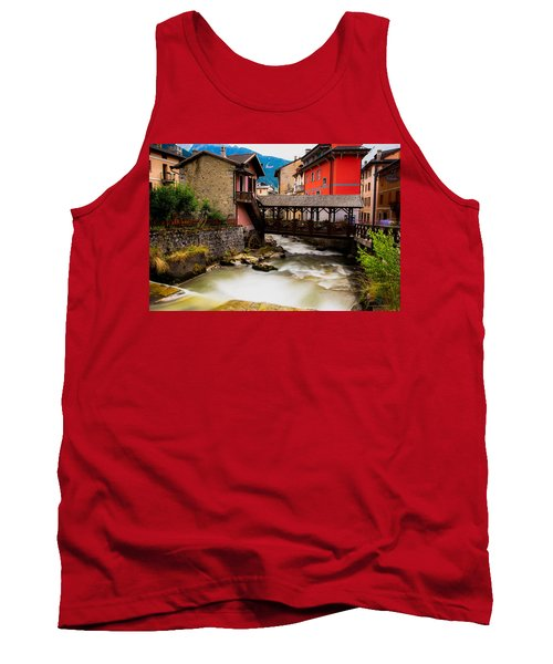 Wood Bridge On The River Tank Top