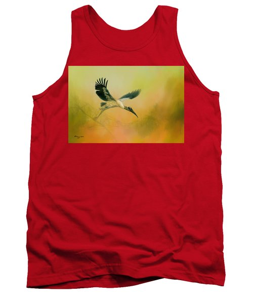 Tank Top featuring the photograph Wood Stork Encounter by Marvin Spates