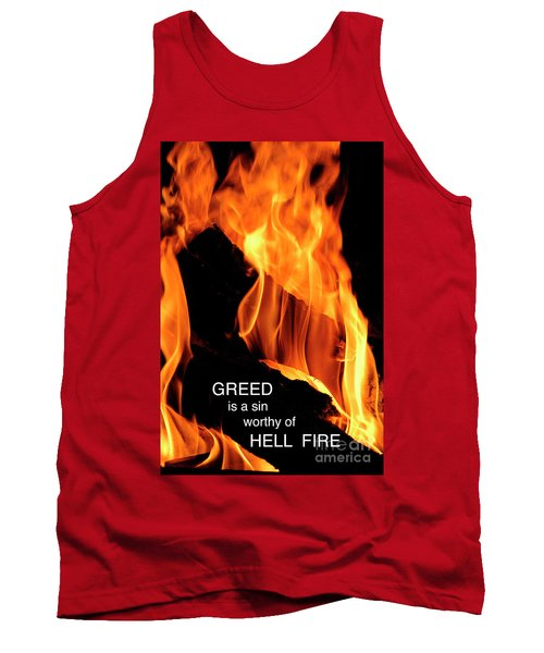 Tank Top featuring the photograph worthy of HELL fire by Paul W Faust - Impressions of Light