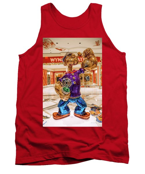 Wynn Popeye Statue By Jeff Koons Tank Top