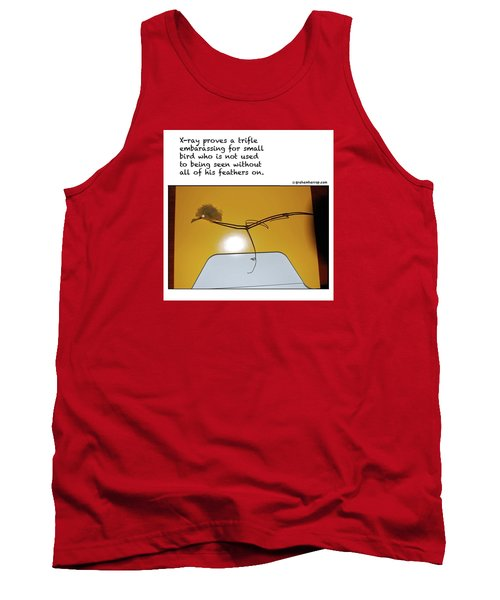 Tank Top featuring the photograph X-ray Bird by Graham Harrop