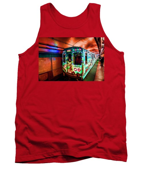 Xmas Subway Train Tank Top