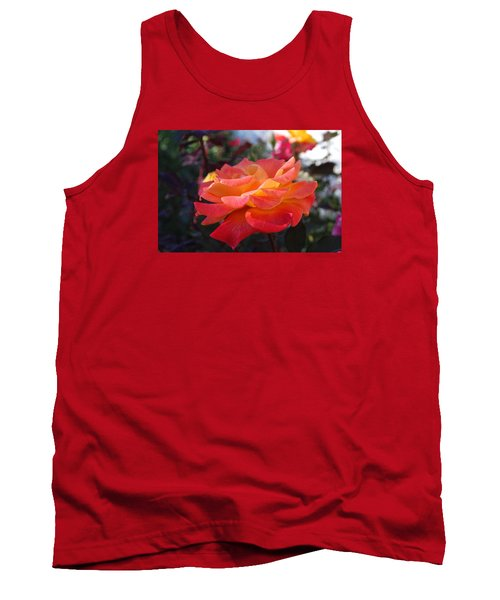 Yellow And Pink Rose Tank Top