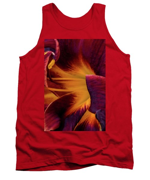 Yellow And Purple Tank Top by Jay Stockhaus