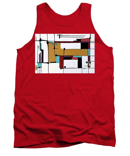 Yellow Cat And Four Kittens Tank Top