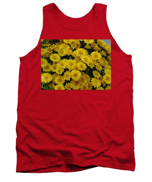 Yellow Fall Tank Top by Shirley Heyn