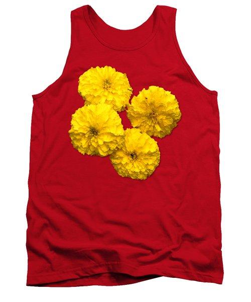 Yellow Flowers Tank Top by Bob Slitzan