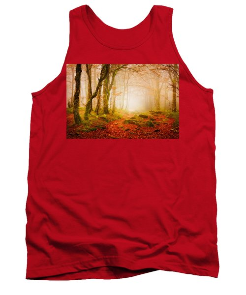 Yellow Forest Mist Tank Top