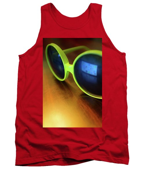 Tank Top featuring the photograph Yellow Goggles With Reflection by Carlos Caetano