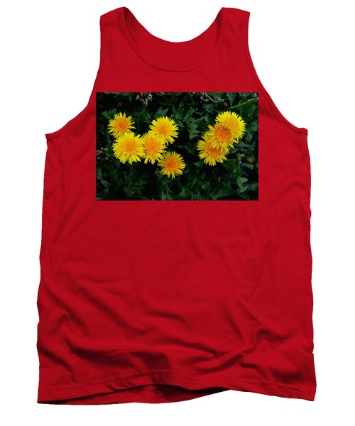 Tank Top featuring the photograph Yellow In Green by Dorin Adrian Berbier