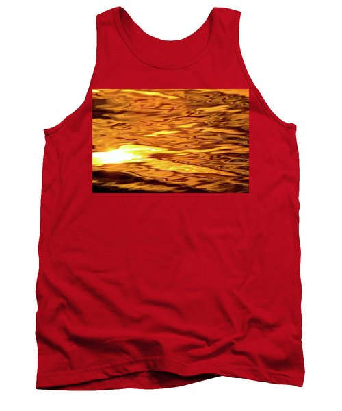 Yellow Light On Water  Tank Top