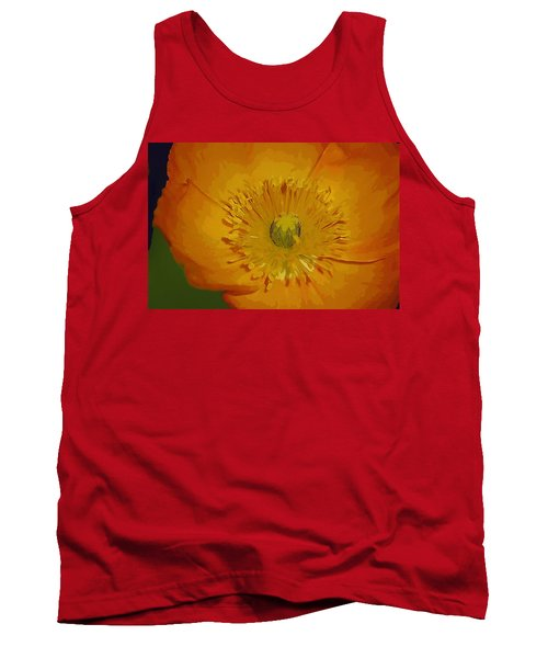 Tank Top featuring the photograph Yellow Poppy by Donna Bentley