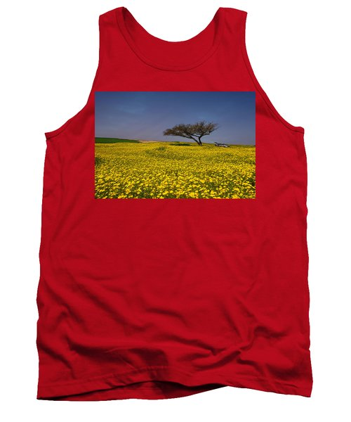 Yellow Spring Tank Top by Uri Baruch