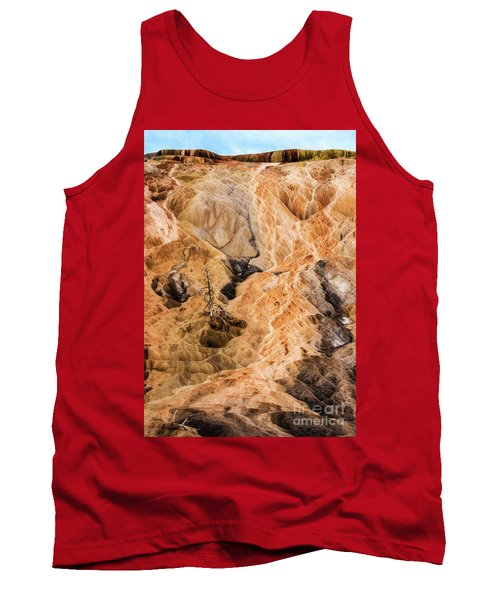 Tank Top featuring the photograph Yellow Stone National Park Abstract by Mae Wertz