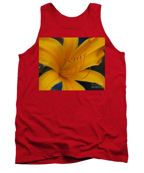 Yellow Tiger Lilly Tank Top