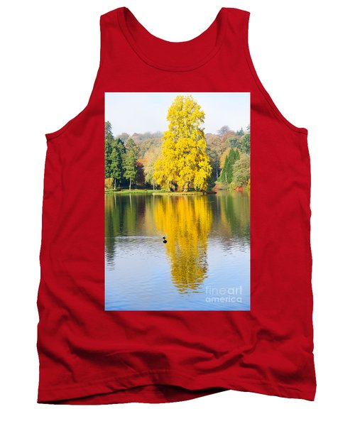 Yellow Tree Reflection Tank Top