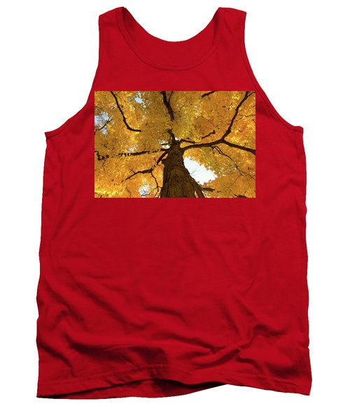 Yellow Up Tank Top by Steve Stuller