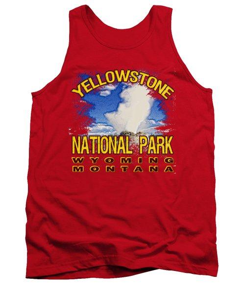 Yellowstone National Park Tank Top by David G Paul
