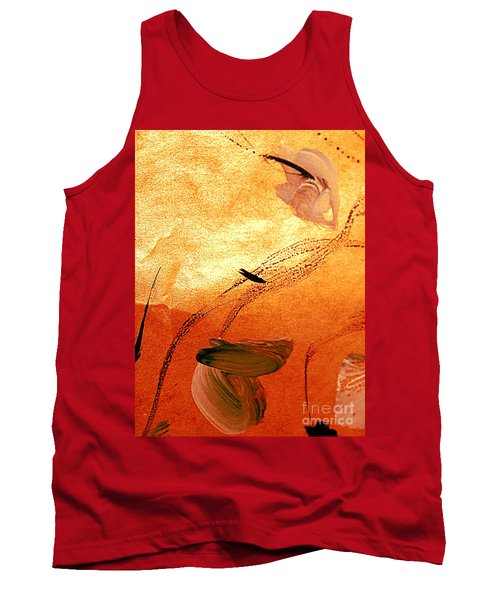 Ying And Yang Flowers Tank Top