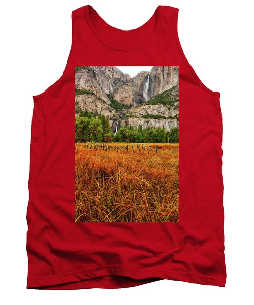 Yosemite Falls Autumn Colors Tank Top