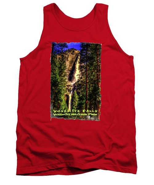 Yosemite Falls Framed By Ponderosa Pines Tank Top by Roger Passman