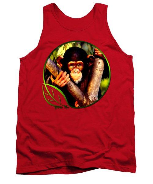 Young Chimpanzee Tank Top by Dan Pagisun