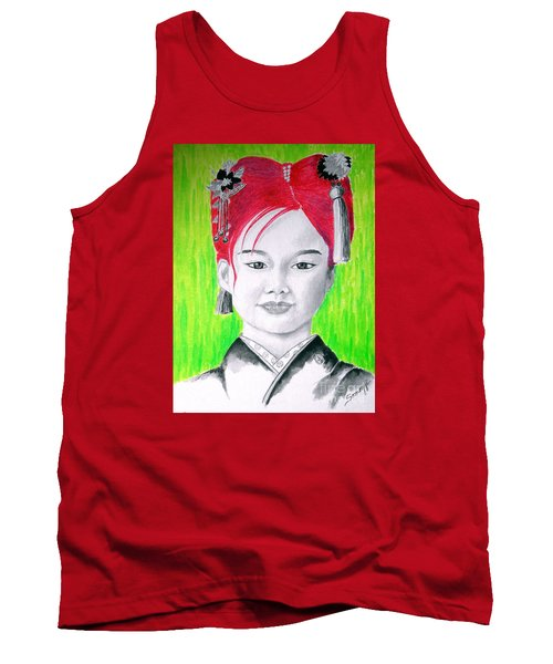 Young Japanese Beauty -- The Original -- Portrait Of Japanese Girl Tank Top