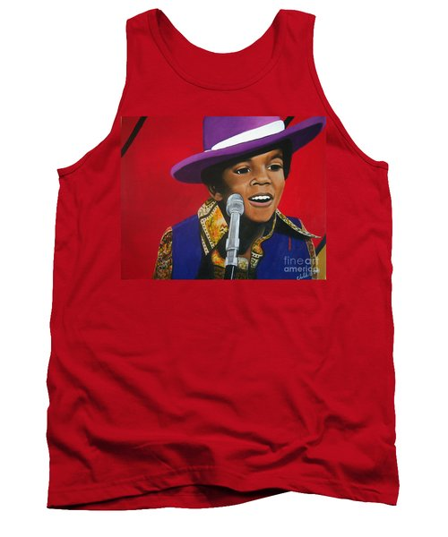 Young Michael Jackson Singing Tank Top by Chelle Brantley