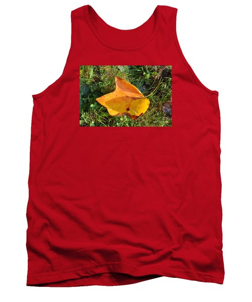 Tank Top featuring the photograph You're Always Leafing Me by Lew Davis