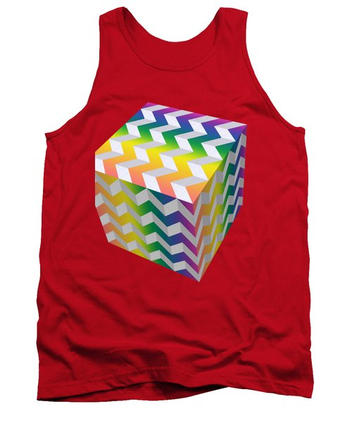 Zig Zag Cube Tank Top by Chuck Staley