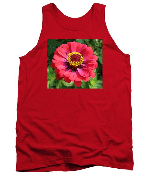 Tank Top featuring the photograph Zinnia by Jeanette French