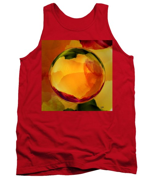 Watercolor Glass Marble  Tank Top