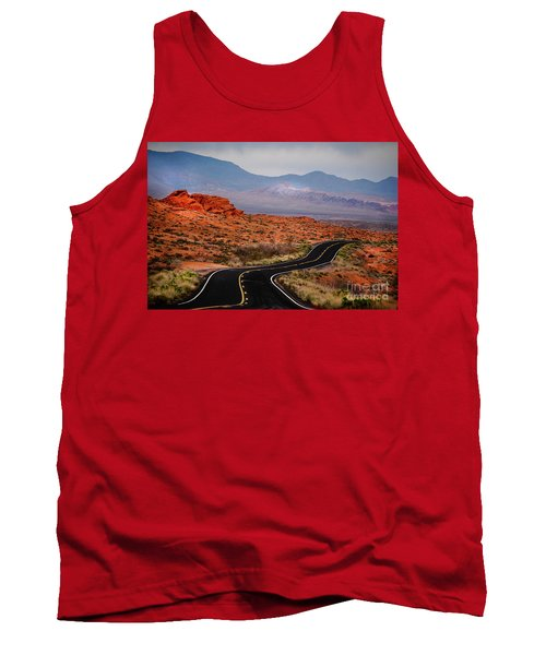 Winding Road In Valley Of Fire Tank Top