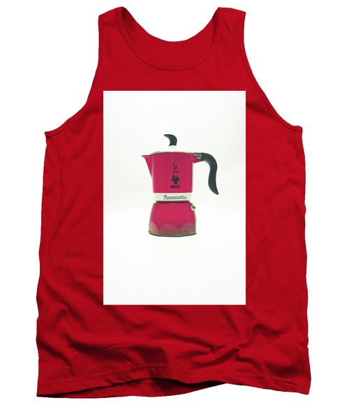 10-05-19 Studio. Red Cafetiere. Tank Top