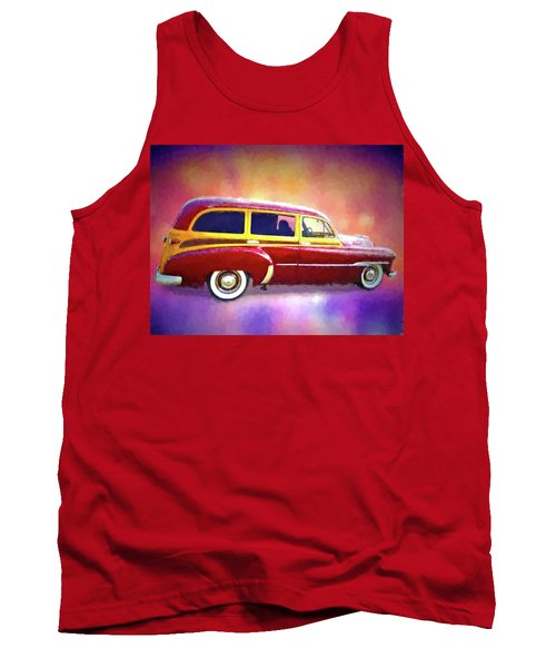 1951 Chevy Woody Sideview Tank Top