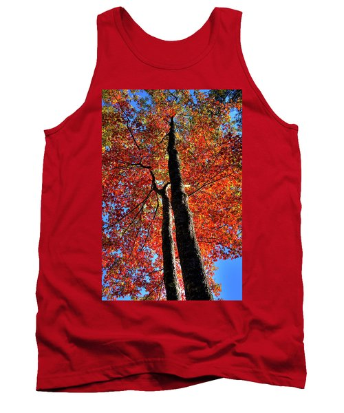 Tank Top featuring the photograph Autumn Reds by David Patterson