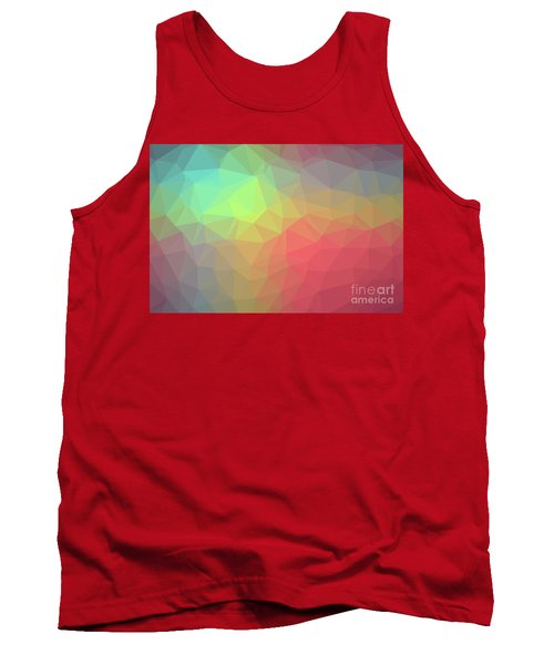 Gradient Background With Mosaic Shape Of Triangular And Square C Tank Top