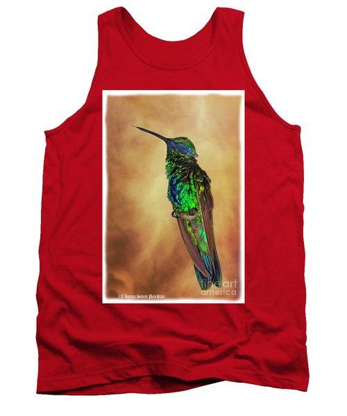 Sparkling Violetear Hummingbird Tank Top