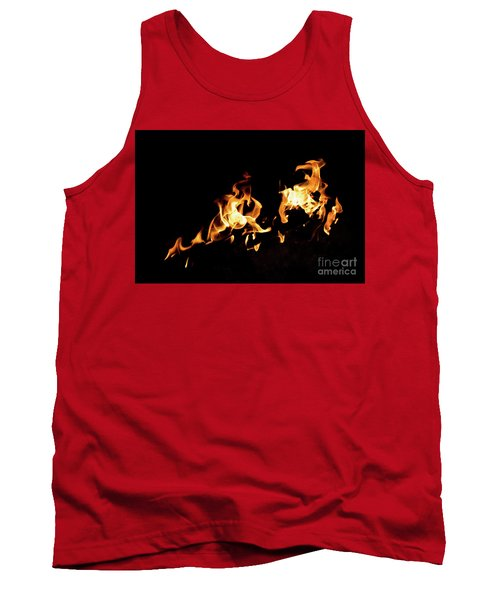 Flames In The Fire Of A Red And Yellow Barbecue. Tank Top