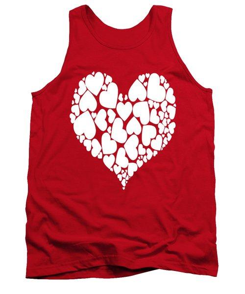 A Heart Full Of Love Romantic Pattern Tank Top